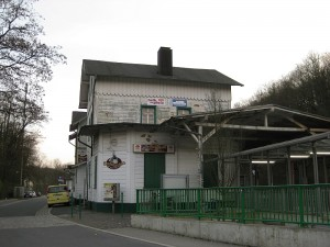 Werbetafel (Foto: Förderverein Denkmal Bahnhof)